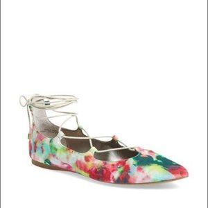 BP. • Katrina pointy toe lace up flat 6.5
